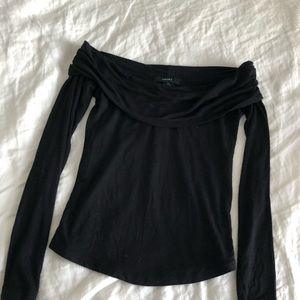 Off the Shoulder Black Shirt